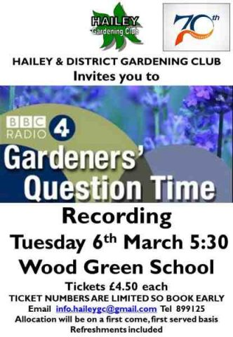 Gardener's Question Time, Hailey Parish Council